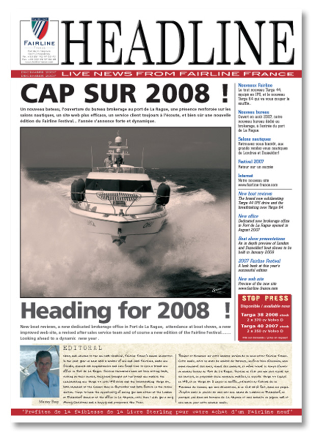 Fairline France News letter