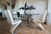 Table inox, création déco