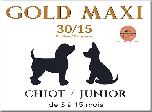 Gold MAXI Chiot Junior 30/15 - sac 4 kg