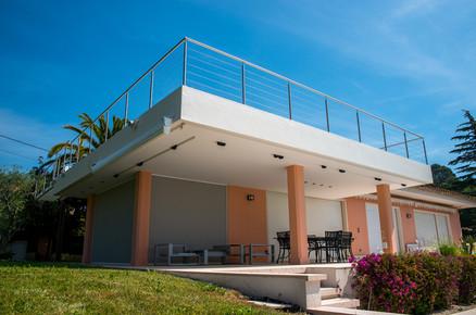 Gardes corps, balcon villa