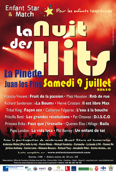 concert La Nuit des Hits à Juan