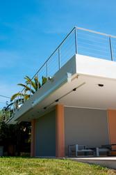 Garde corps, balcon de villa
