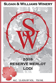 2018 RESERVE MERLOT - LODI, CA