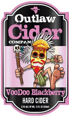 Voodoo Blackberry Hard Cider - 12 Pack Case - Free Shipping!