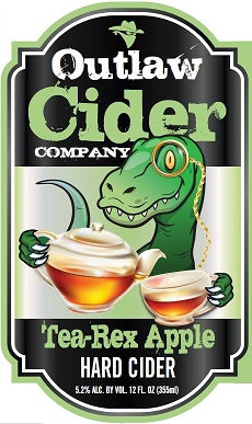 Tea-Rex Apple Hard Cider - 12 Pack Case - Free Shipping!