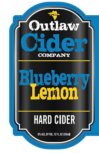 Blueberry Lemon Hard Cider - 12 Pack Case - Free Shipping!