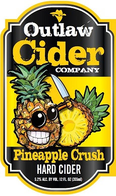 Pineapple Crush Hard Cider - 12 Pack Case - Free Shipping!
