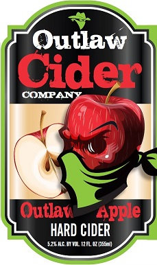 Outlaw Apple Hard Cider - 12 Pack Case - Free Shipping!