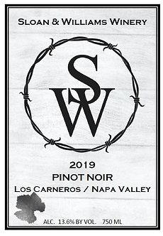 2019 Pinot Noir - Los Carneros/Napa Valley