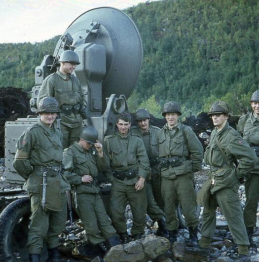 Deler av radartroppen i Artilleribataljo