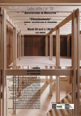 RDV DE L'ARCHITECTURE . LABO UTILE #70 . KARBON' architecture & urbanisme . Mardi 30 Avr
