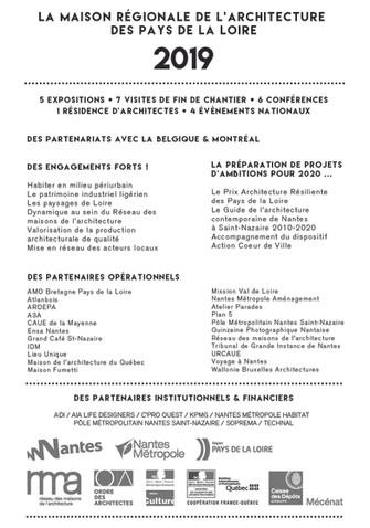 La Maison régionale de l'architecture des Pays de la Loire en 2019