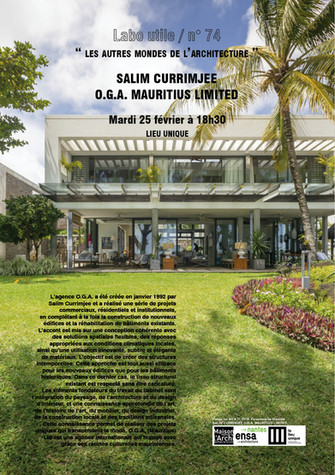 RDV DE L'ARCHITECTURE . LABO UTILE #74 . « LES AUTRES MONDES DE L'ARCHITECTURE »
