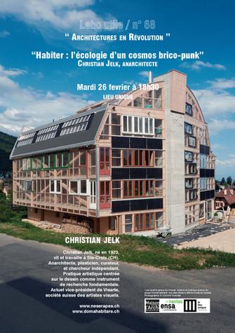 RDV DE L'ARCHITECTURE . LABO UTILE #68 . Christian Jelk . Mardi 26 fev.