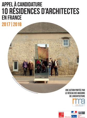 APPEL À CANDIDATURE NATIONAL                      10 résidences d'architectes en France