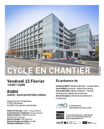 VISITE DE CHANTIER                                            VENDREDI 22 FÉVRIER 11h30 > 14h00