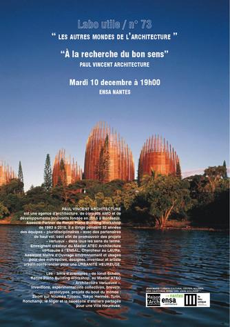 RDV DE L'ARCHITECTURE . LABO UTILE #73 . « LES AUTRES MONDES DE L'ARCHITECTURE »