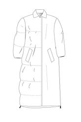 swagger coat technical sketch 2_Tekengeb