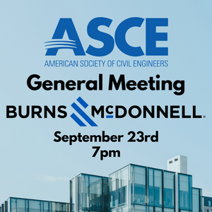 General Meeting 9/23 at 7! Burns McDonnell