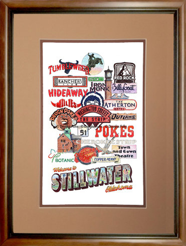 Stillwater, Oklahoma Framed