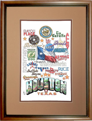 Houston, Texas Framed