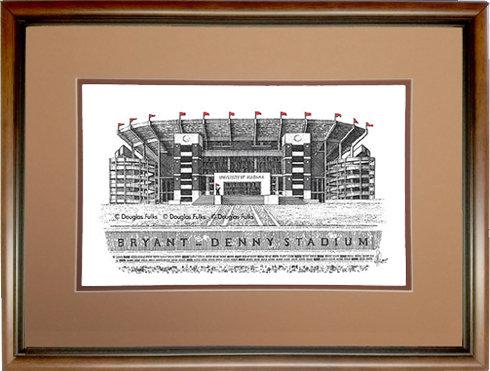Bryant Denny Stadium, Framed