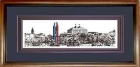 University of KS Skyline, Framed