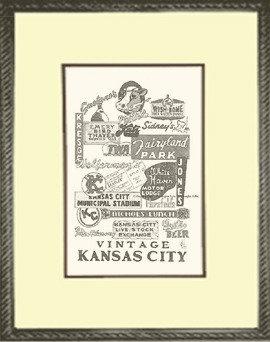 Kansas City, Vintage KC, Framed
