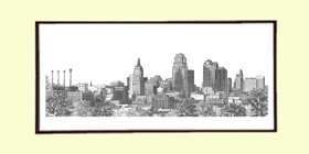 Kansas City Skyline, Matted
