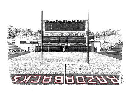 Razorback Stadium, Print