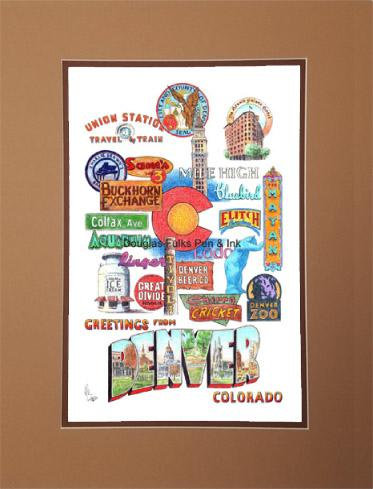Denver Panoply, matted
