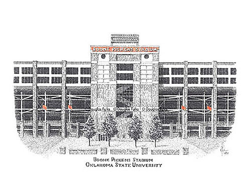 Boone Pickens Stadium, Print