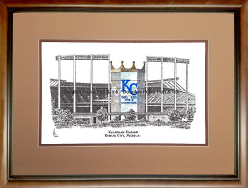 Kauffman Stadium, Framed
