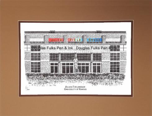 Allen Fieldhouse, matted