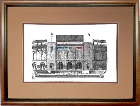 Memorial Stadium - KS, Framed