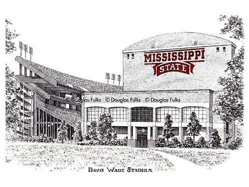Davis Wade Stadium, Print