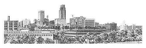 Omaha Skyline, Print