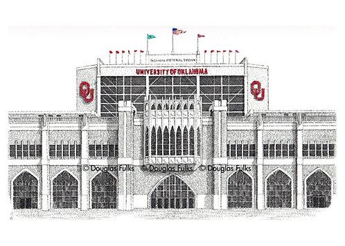 Oklahoma Univ Memorial Stadium, Print