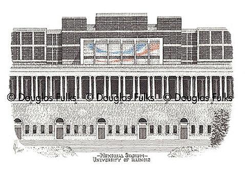 Memorial Stadium - IL, Print