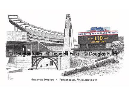 Gillette Stadium, Print