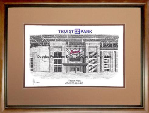 Truist Park, framed