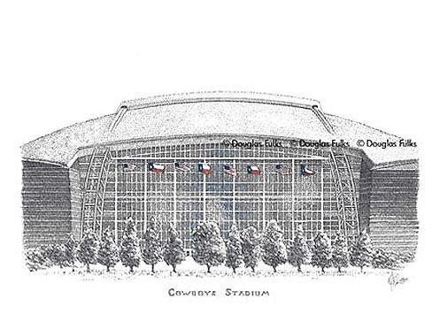 Cowboys Stadium, Print