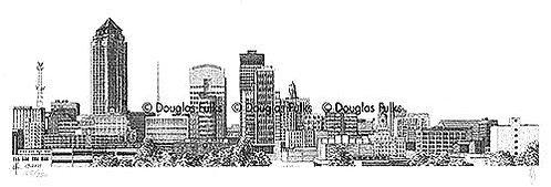 Des Moines Skyline, Print