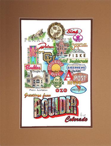 Boulder, Colorado Matted