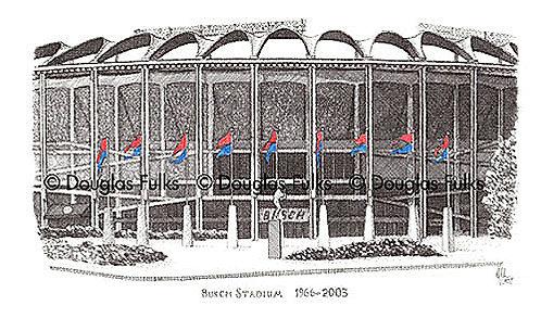 Busch Stadium, 1966 - 2003, Print