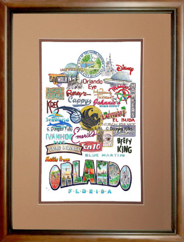 Orlando, Florida Framed