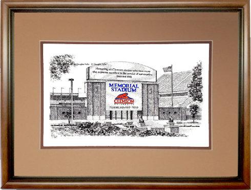 Memorial Stadium - SC, Framed