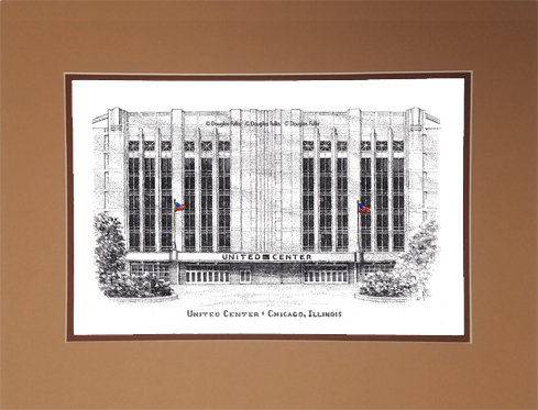 United Center, Matted