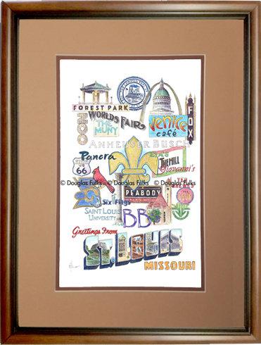 St. Louis, Missouri Framed