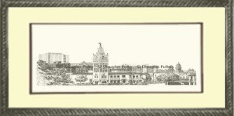 Plaza #16, Framed